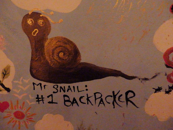 Mister Snail #1 backpacker