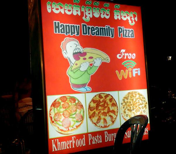 Happy Dreamily. Poikkeuksellisen iloinen pizzapaikka