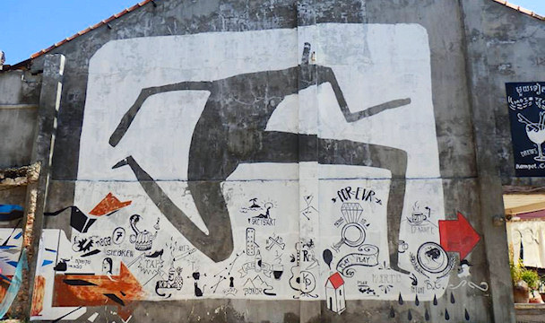Graffiti, Kampot | Maija Kauhanen | Kulkuri.org