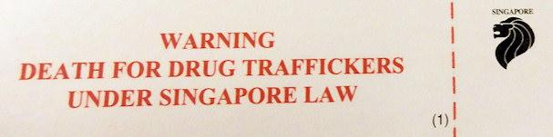 Huumeiden salakuljetus kielletty, Singapore Changi lentokenttä | Maija Kauhanen | kulkuri.org