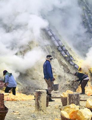 Viikon kuva: Ijenin tulivuori, Jaava, Indonesia