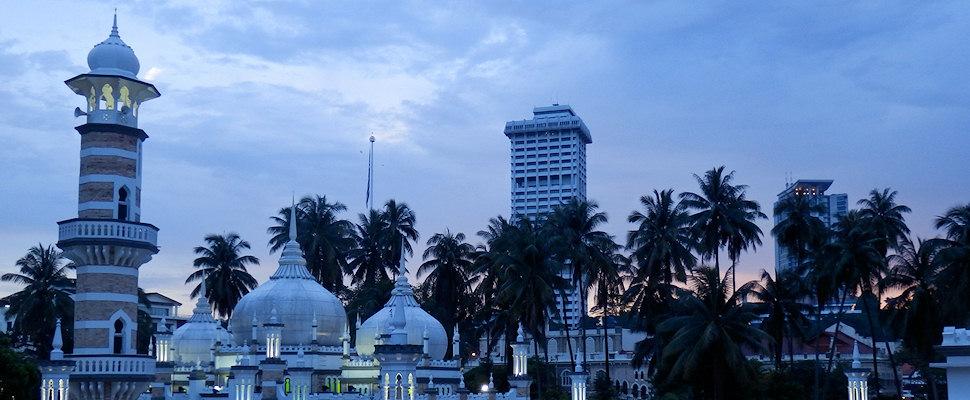 Majid Jamek, Moskeija, Kuala Lumpur, Malesia, Kaakkois-Aasia | Maija Kauhanen | kulkuri.org