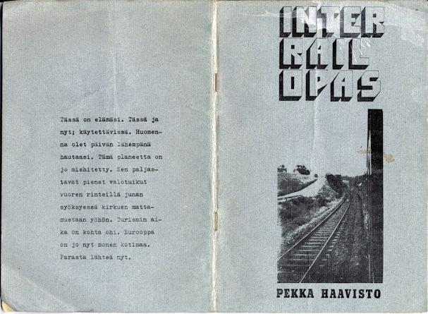 Pekan ensimmäinen interrailopas  - (c) Pekka Haavisto - Kulkuri.org
