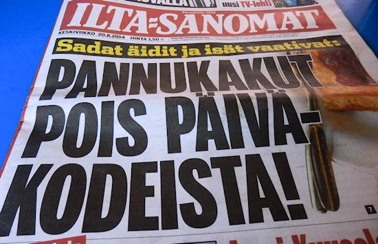 Iltalehden lööppi vaatii pannukakkuja pois päiväkodeista - Maija Kauhanen - kulkuri.org