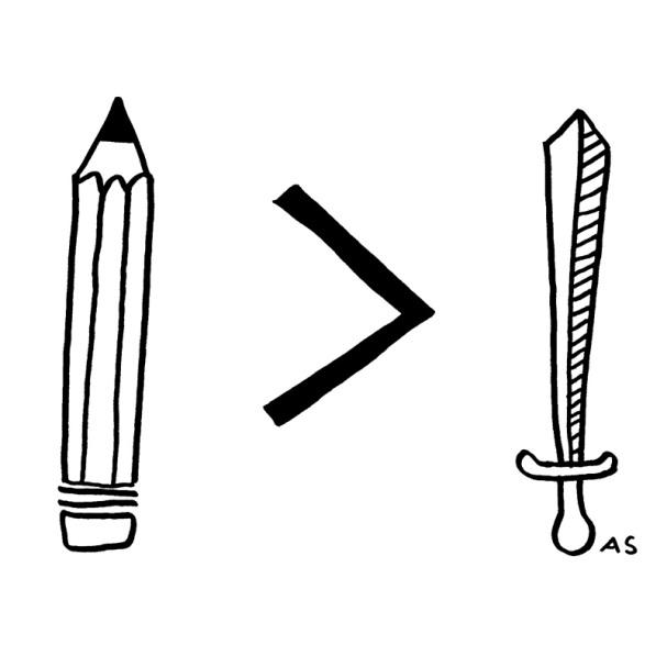 Kynä on suurempi kuin miekka - Aino Sutinen